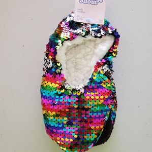 Sequins slippers girls xs-small 9-1